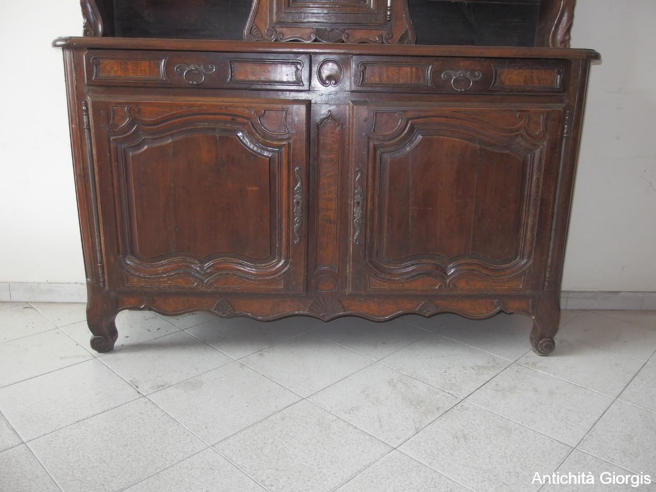 Credenza Con Alzata Dell 800 : Antichità giorgis u credenza a tre porte con alzata e orologio