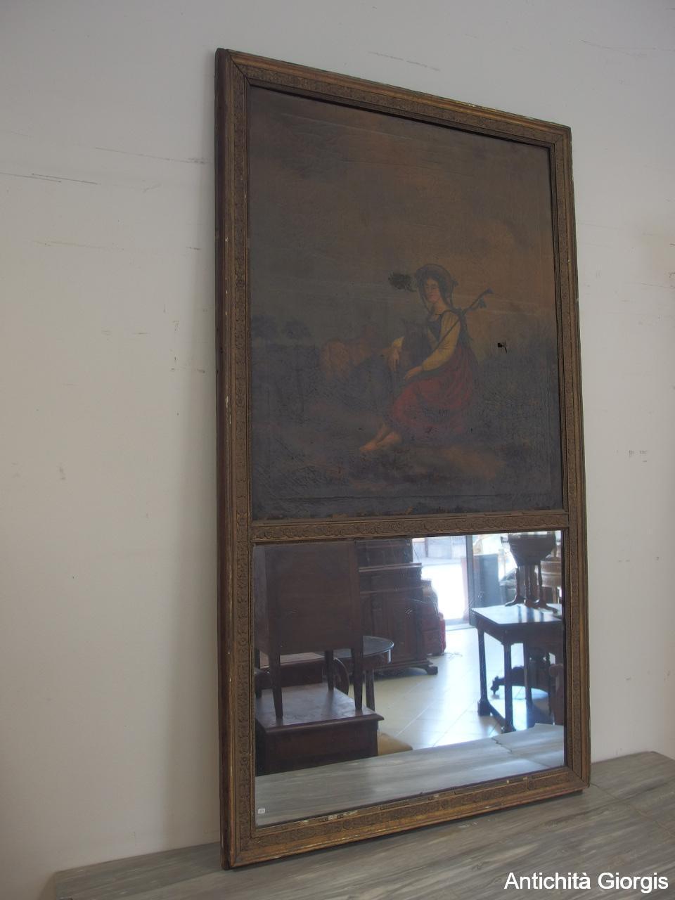 Quadro con specchio antico ebay - Specchio dorato antico ...